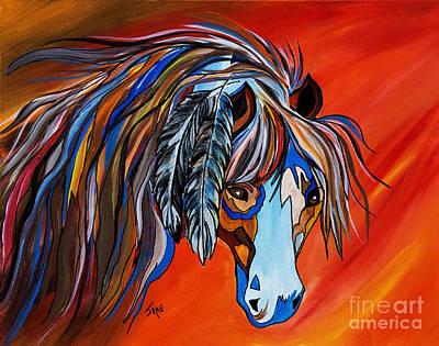 Painter Mixed Media - Frisco War Horse by Janice Rae Pariza