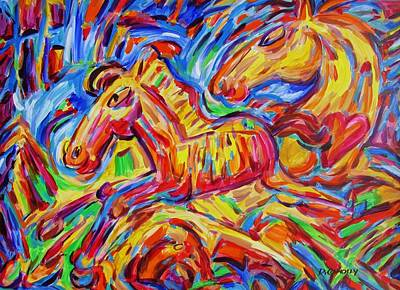 Painting - Frisky Foal Franticly Frolics by Dianne  Connolly
