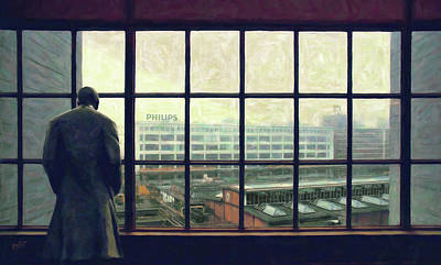 Photograph - Frits Is Overlooking His Philips Plants In Eindhoven by Nop Briex