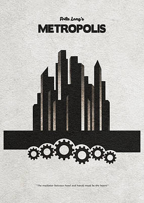 Art Print featuring the painting Fritz Lang's Metropolis Alternative Minimalist Movie Poster by Inspirowl Design