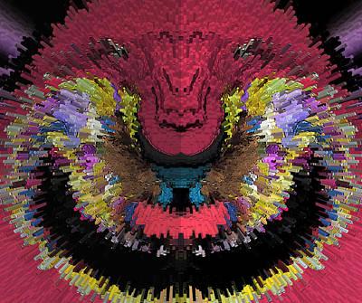 Fuzzy Digital Art - Fritzy Frizz-ball by Marian Bell