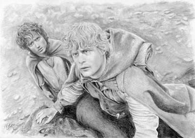 Frodo And Sam In Mordor Art Print by Bitten Kari