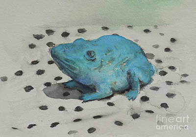 Painting - Frog 1 by Yoshiko Mishina