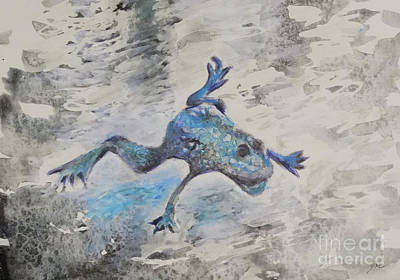 Painting - Frog 2 by Yoshiko Mishina