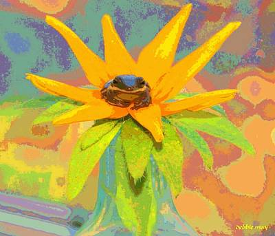 Frog A Lilly 2  - Photos Bydebbiemay Art Print by Debbie May