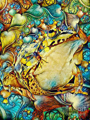 Mixed Media - Frog And Cicada by Olga Hamilton