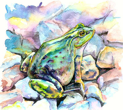 Painting - Frog by Christy Freeman Stark