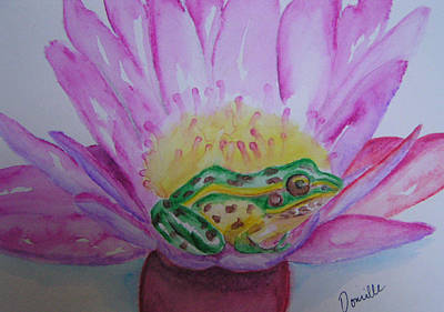 Frog Art Print by Donielle Boal
