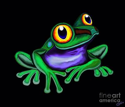 Digital Art - Frog Eyes  by Nick Gustafson