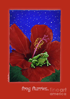 Painting - Frog Flurries... by Will Bullas