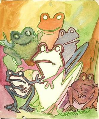Modesto Painting - Frog Group Portrait by James Christiansen