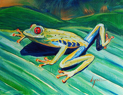 Painting - Frog by Lynne Haines