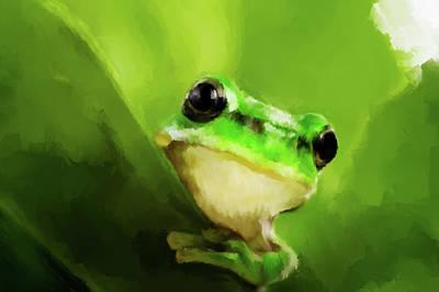 Frog Art Print by Michael Greenaway