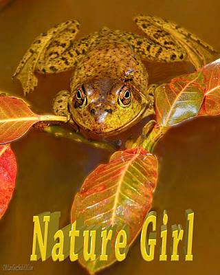 Photograph - Frog Nature Girl by LeeAnn McLaneGoetz McLaneGoetzStudioLLCcom