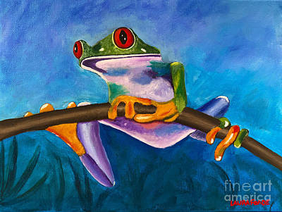 Painting - Frog On A Branch by Laura Forde