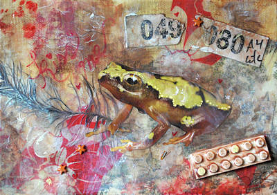 Nursery Rhyme Mixed Media - Frog Prince by Jennifer Kelly