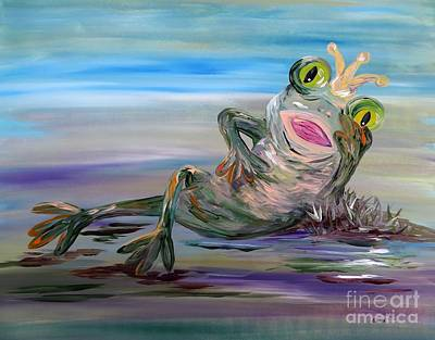 Frog Mixed Media - Frog Princess by Eloise Schneider