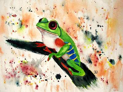 Painting - Frog by Ruth Trinczek