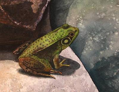 Frog Art Print by Sharon Farber