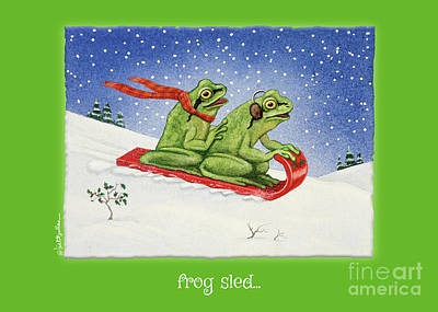Painting - Frog Sled... by Will Bullas