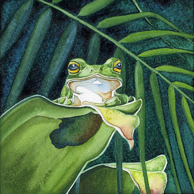 Painting - Frog The Pose by Lyse Anthony