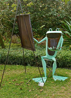 Photograph - Froggy Artist by Denise Mazzocco