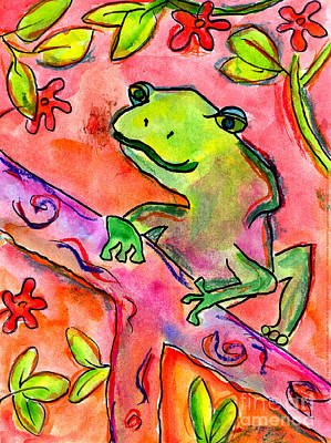 Painting - Froggy by Brett Walker Age Fourteen