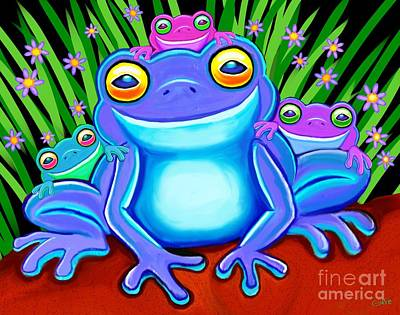 Digital Art - Froggy Family by Nick Gustafson
