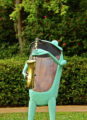 Photograph - Froggy Sax by Denise Mazzocco