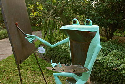 Photograph - Froggy The Artist by Denise Mazzocco