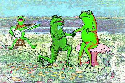 Digital Art - Froggy Went A Courtin by John Haldane