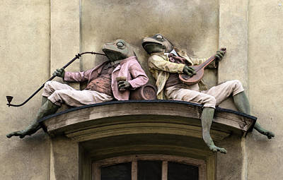 Photograph - Frogs Sculpture by Jaroslaw Blaminsky