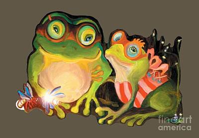 Painting - Frogs Transparent Background by Donna Hall