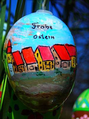 Frohe Ostern Art Print