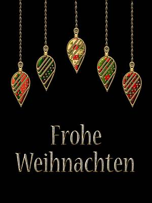 David Drawing - Frohe Weihnachten German Merry Christmas by Movie Poster Prints