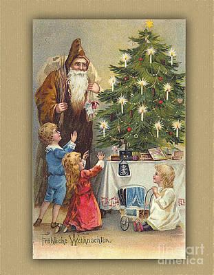 Digital Art - Frohliche Weihnachten Vintage Germany by Melissa Messick