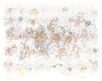 Polymer Drawing - Frolic In Tortuosity by Regina Valluzzi
