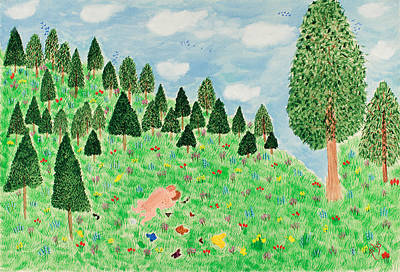 Painting - Frolicking by Arlys Krim