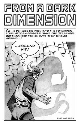 Drawing - From A Dark Dimension by Clif Jackson