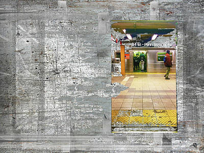 Mixed Media - From A Subway Car by Tony Rubino
