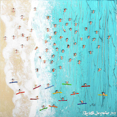 Painting - From Above by Elizabeth Langreiter