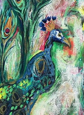 Painting - From Abstract To Peacock by Kim Heil