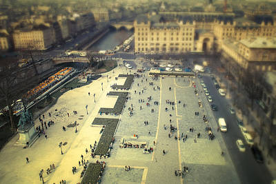 Vintage Architecture Photograph - From Atop Notre Dame by Andrew Soundarajan