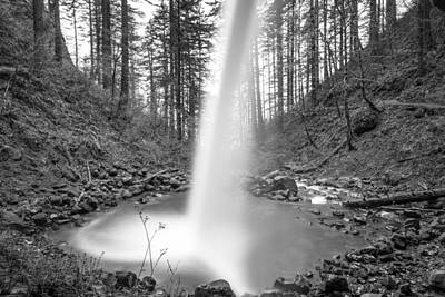 Photograph - From Behind Ponytail Waterfall Oregon by John McGraw