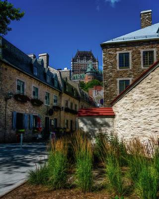 Photograph - From Below Fairmont Le Chateau Frontenac by Chris Bordeleau