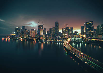 Photograph - from Brickell Key by Nisah Cheatham