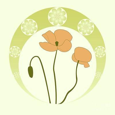 Art Nouveau Flower Digital Art - From Eden by Kourai