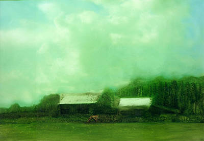 Art Print featuring the painting From Ground To Sky by FeatherStone Studio Julie A Miller