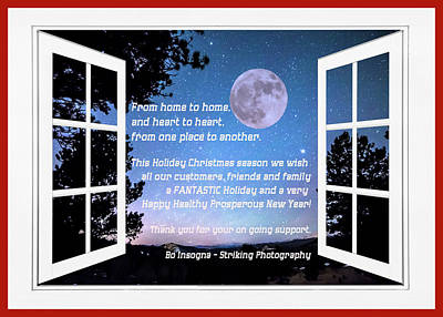From Home To Home And Heart To Heart Happy Holidays Art Print by James BO Insogna
