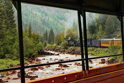 Photograph - From Inside The Train - Durango Silverton Narrow Gauge Railroad - Colorado by Gregory Ballos